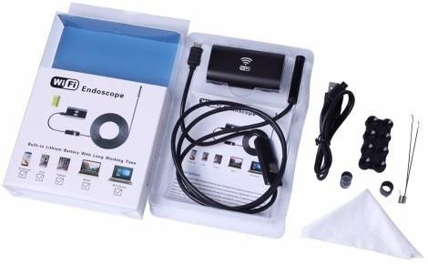endoscopio wifi sumergible-cable rigido-2 mts- cel, pc, tabl