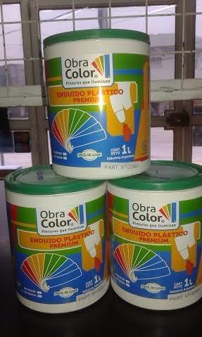 enduido plastico 1 lt obra color
