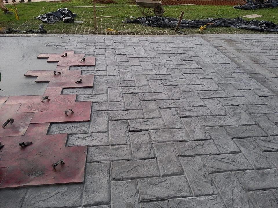 Endurecedor pigmento para concreto estampado cores for Pigmento para cemento