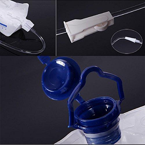 enema kit limpieza de bolsas de colon reutilizables, 1200 ml