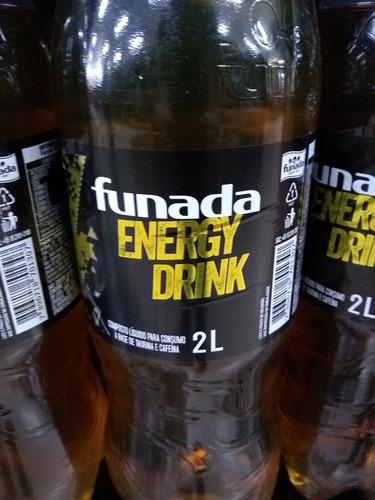 energético 2 litros funada energy drink kit com 13 unidades