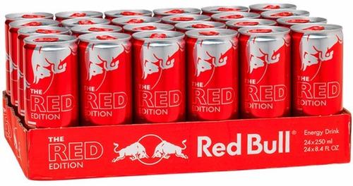 energético red bull red ed cranberry 3 caixas-24 latas cada