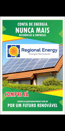 energia fotovoltaica/ economia de 95% na conta de luz