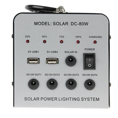energia solar cargador alimentacion dc-80w iluminacion para