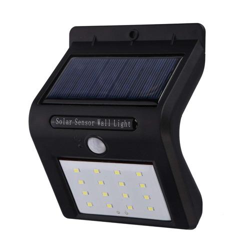 energía solar noche luz seguridad 16 led lámpara solar pir