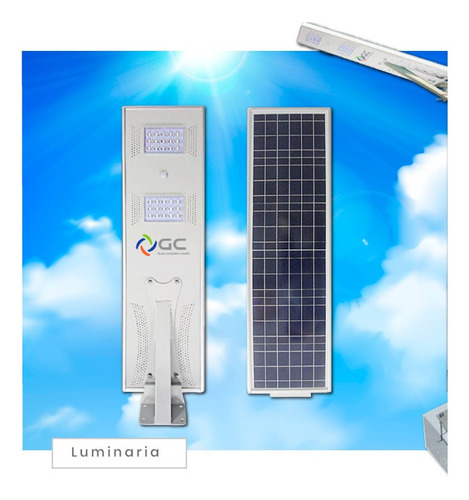 energia solar postes con lampara recargable