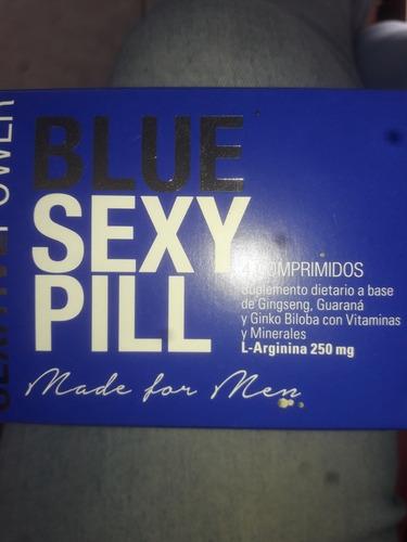 energizante blue sexy pill x 4 comprimidos, 100% natural