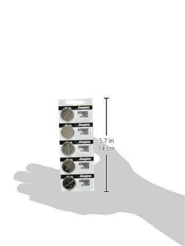 energizer 2032 batería cr2032 lithium 3v (1 paquete de 5)