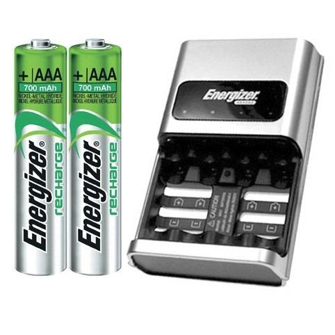 energizer cargador automatico 1hr+2 pilas aaa 700mah (nuevo)