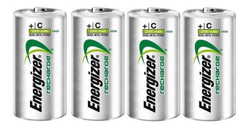 energizer pack 4 pilas recargables (c) 2500mah