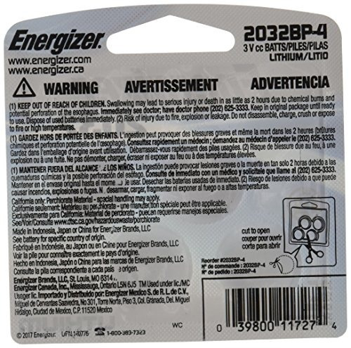 energizer watchelectronicspecialty battery 2032 3v 4pack 203