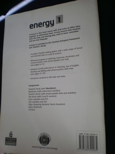 energy 1. test book. jenny parsons