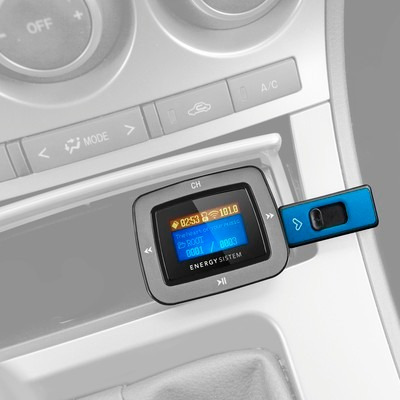 energy sistem transmisor fm mp3 para auto con control radio