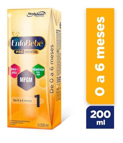 enfabebe 1 leche infantil líquida pack 60 bricks x 200mls