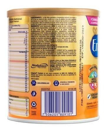 enfagrow premium fórmula infantil 375g