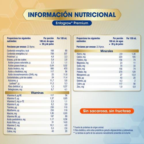enfagrow® premium sabor natural- 4.95 kg