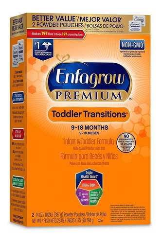 enfagrow premium toddler transitions - fórmula para beb...