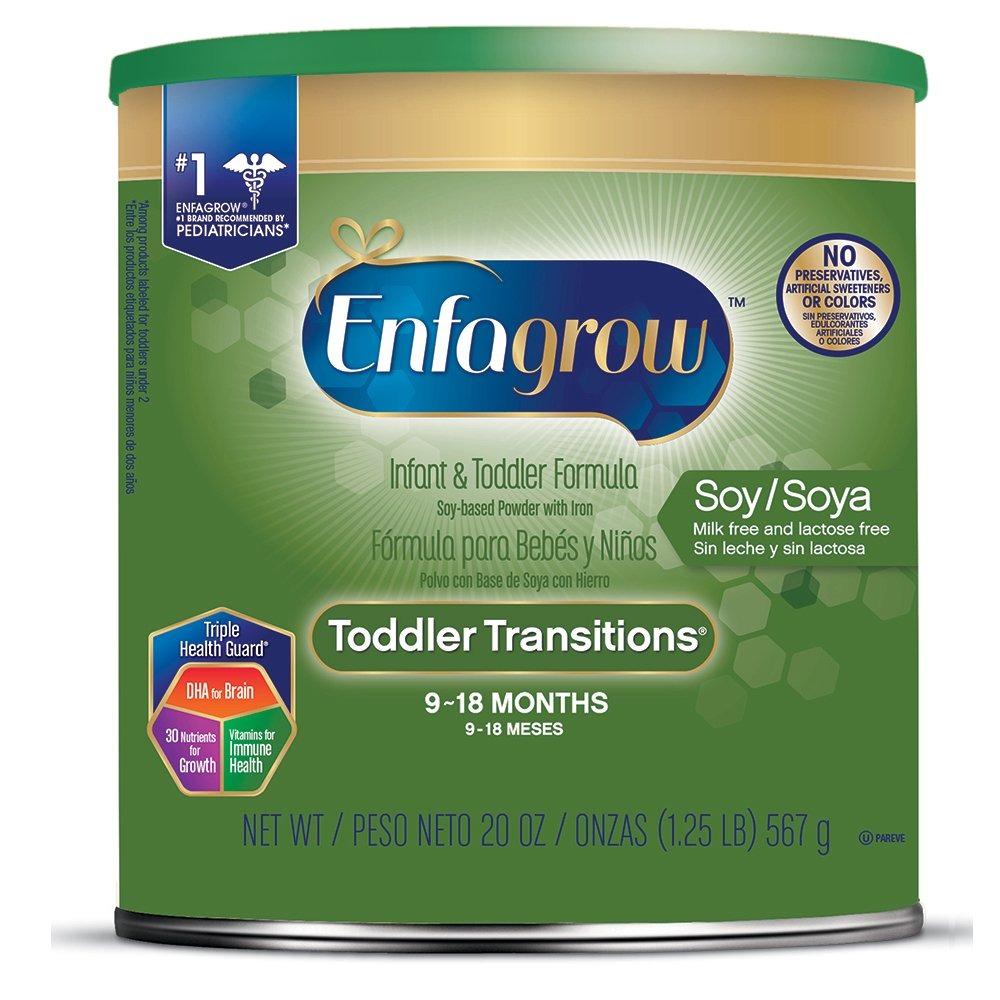 Enfagrow Toddler Transitions Soy Formula - Sin Leche Y ...