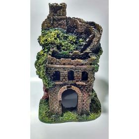 Enfeite Aquário Castelo Ruína Pequeno