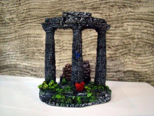 enfeite de aquário colunas grega pequena