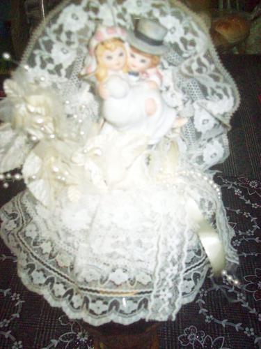 enfeite de bolo casamento noivinhos