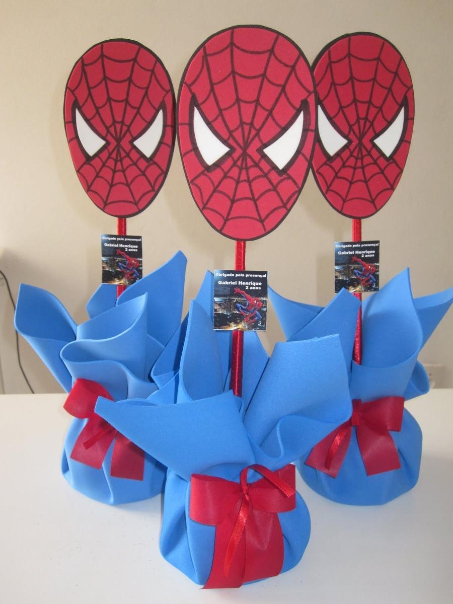 Enfeite De Mesa Homem Aranha R$ 8,00 em Mercado Livre -> Enfeites De Mesa Do Homem Aranha