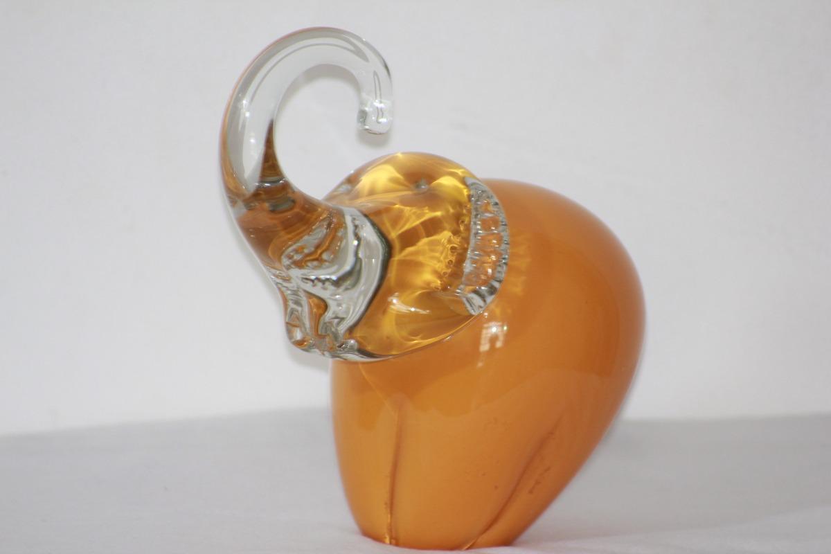 Enfeite De Vidro ~ Enfeite De Mesa Ou Estante Elefante Vidro R$ 88,00 em Mercado Livre