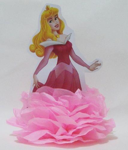 enfeite de papel de seda em pompom princesas disney festa