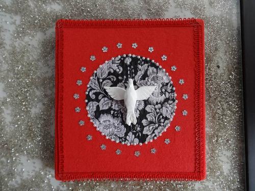 enfeite de parede divino espirito santo feito mão artesanal