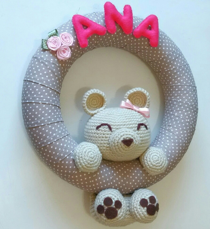 Porta Maternidade Personalizado Cachorrinho Amigurumi | Grão de Gente | 971x891