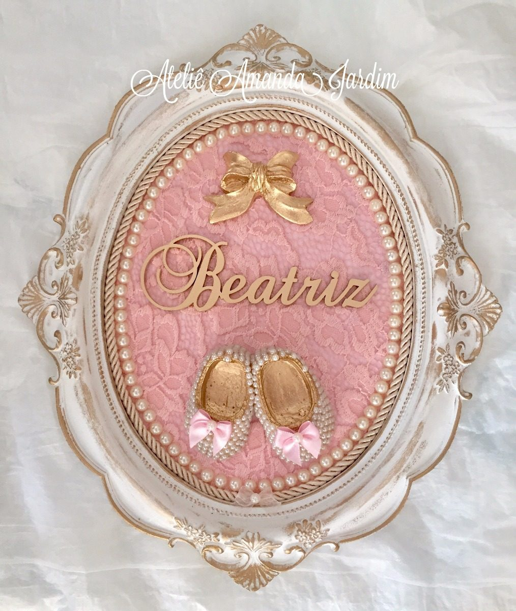 Enfeite De Gesso ~ Enfeite De Porta Maternidade E Quarto Do Bebe Moldura Resina R$ 144,90 em Mercado Livre