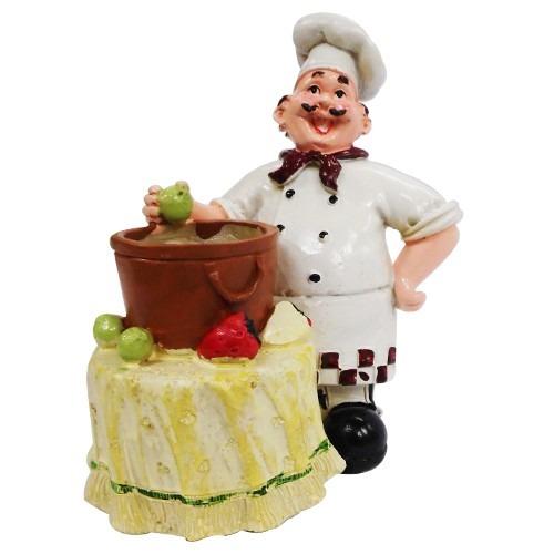 Enfeite De Resina ~ Enfeite De Resina Cozinheiro Garçom Decoraç u00e3o Cozinha R$ 54,99 em Mercado Livre