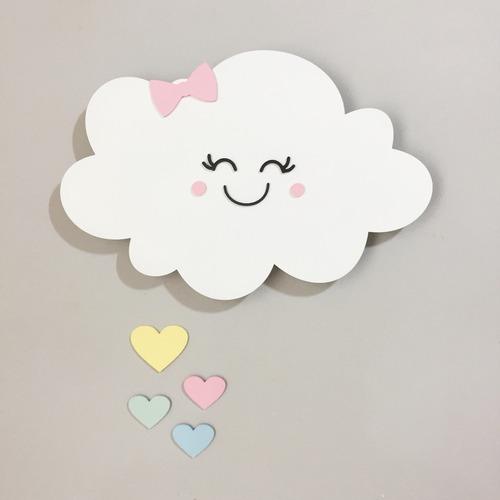 enfeite decoração nuvem branco  led quarto bebê black friday