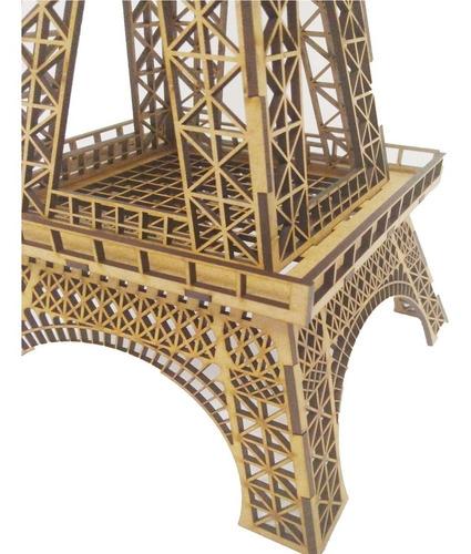 enfeite decoração torre eiffel paris casa 65cm mdf 3mm