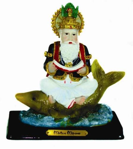 enfeite deus das àguas sagradas jhulelal sentado no peixe b3