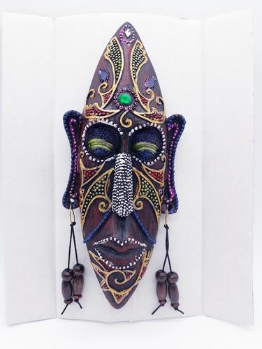 enfeite máscara africana resina estátua decoração batalha
