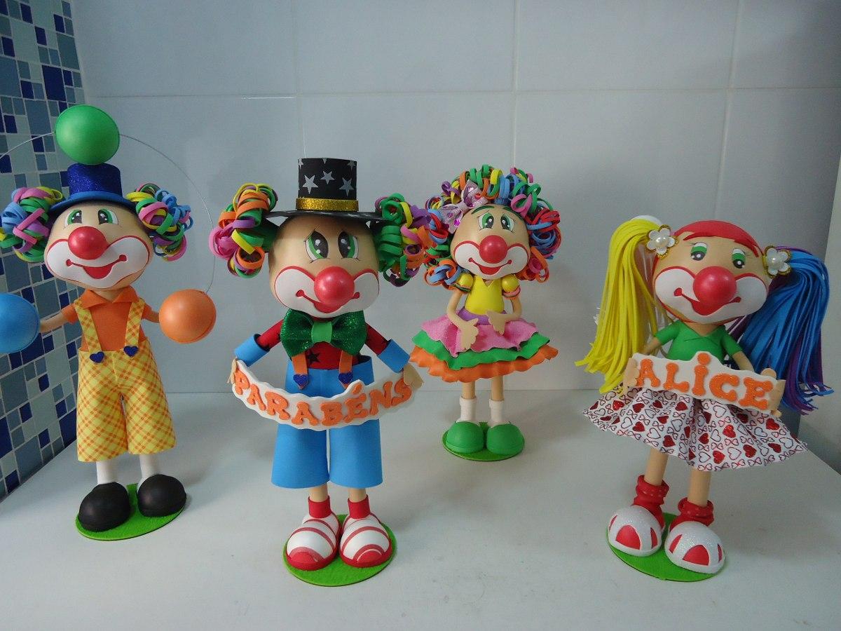Decoração Com Eva ~ Enfeite Mesa Decoraç u00e3o Festa Infantil Circo Palhaços R$ 180,00 em Mercado Livre