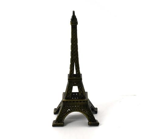 enfeite mini torre eiffel paris 12 cm metal decoração