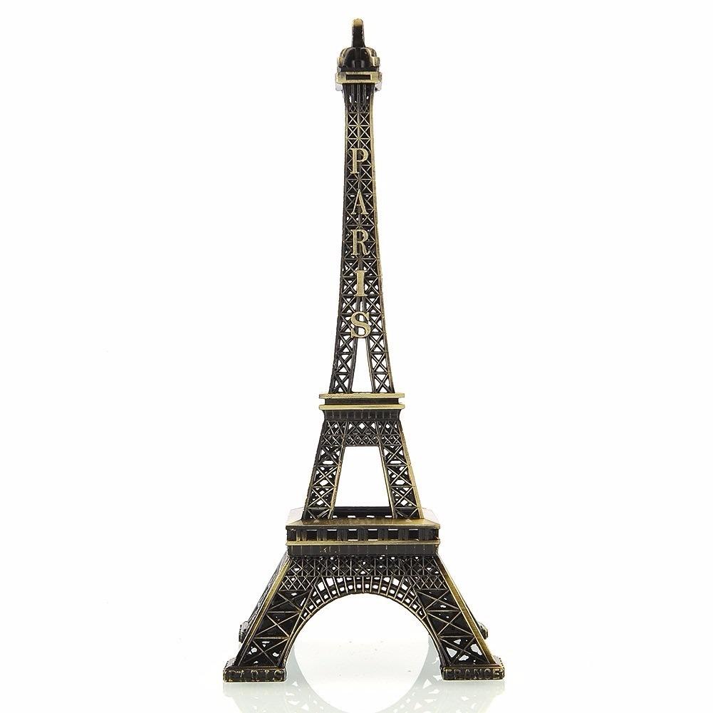 Enfeite Miniatura Metal Torre Eiffel Paris 32cm Decoração  R$ 24,99 em Merca