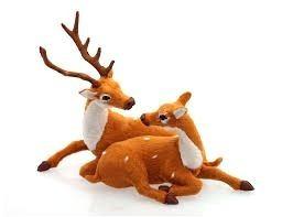 enfeite natalino - rena com filhote