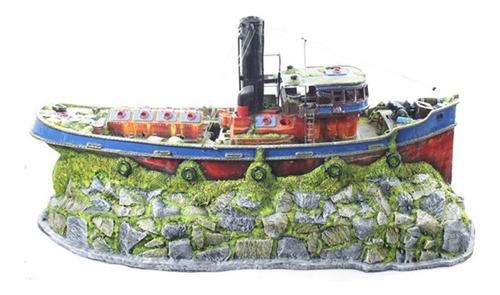 enfeite para aquário- barco cargueiro gigante - frete gratís