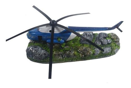 enfeite para aquário - helicóptero peq. - cod. d18