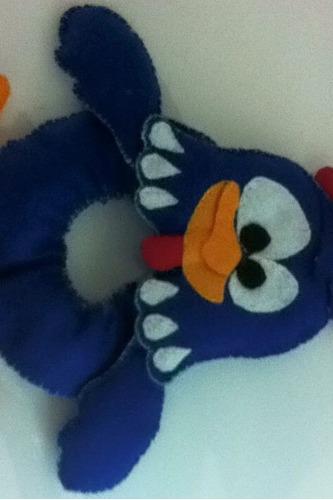 enfeite para câmera em feltro - galinha pintadinha - 22 cm