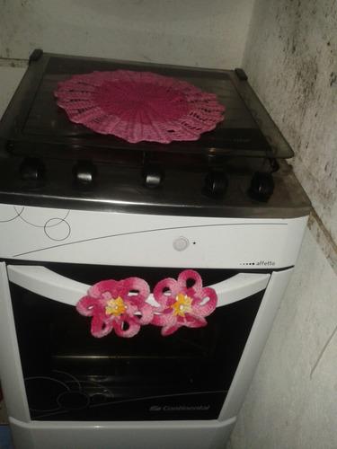 enfeite para fogão em crochê