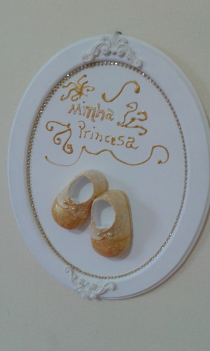enfeite para porta maternidade oval
