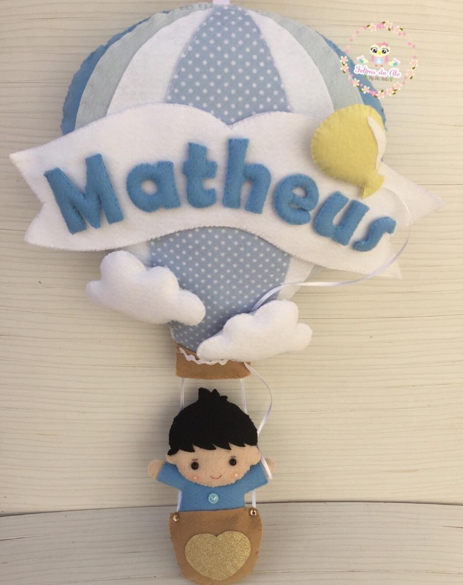 enfeite porta maternidade menino no balão feltro. Carregando zoom. 0c6ba12d6c7c4
