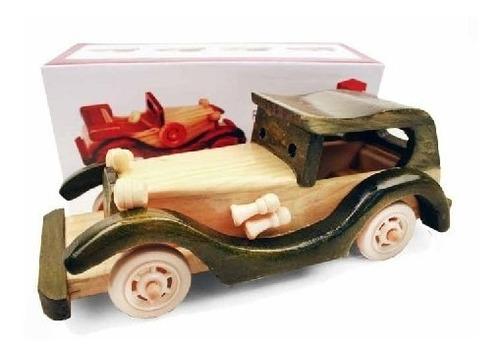 enfeite réplica carro de madeira.