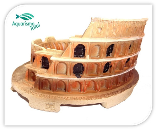 enfeite resina soma ruína coliseum ornamento p aquários