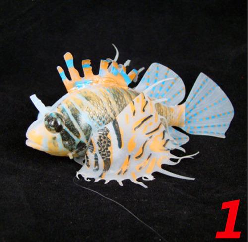 enfeite silicone aquario peixe leão 3 modelos lion fish
