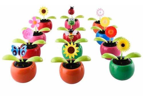 enfeite solar florzinha - kit 5 pçs